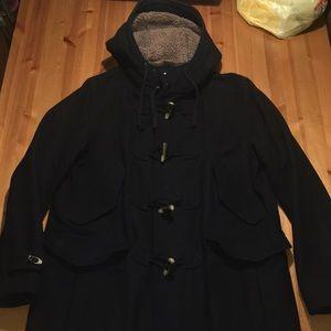 Black Old Navy Wool Pea Coat